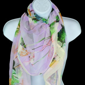Cejon Women Chiffon Floral Cover Up Wrap Scarf New
